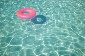 Inner Tube in Swimming Pool