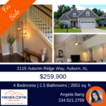 FOR SALE: Home in the Autumn Ridge Community in Auburn