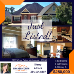 JUST LISTED: Home in Auburn on Core Drive