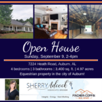 OPEN HOUSE: 7224 Heath Road, Auburn, AL